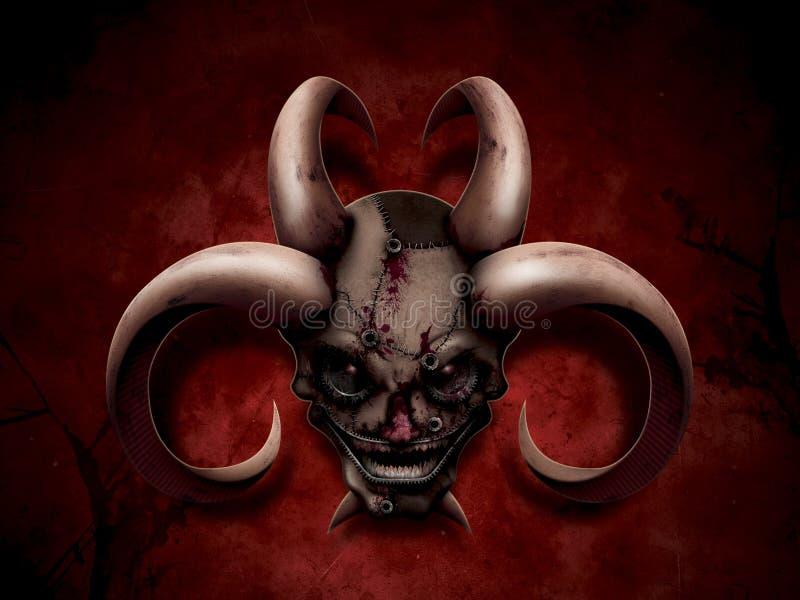 Download Evil portrait stock illustration. Image of leather, blood - 24082332