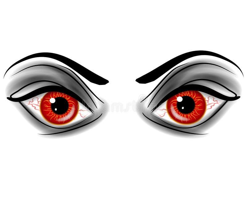 Evil Red Devil Demonic Eyes royalty free illustration
