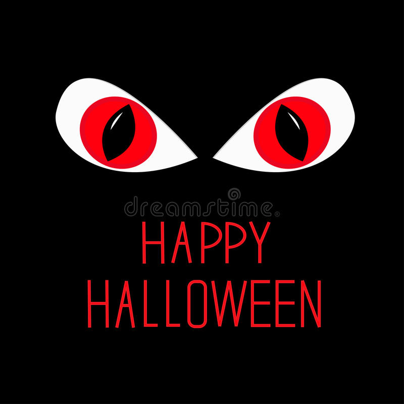 Download Evil Red Eyes In Dark Night. Happy Halloween Card. Stock Photography - Image: 34103012