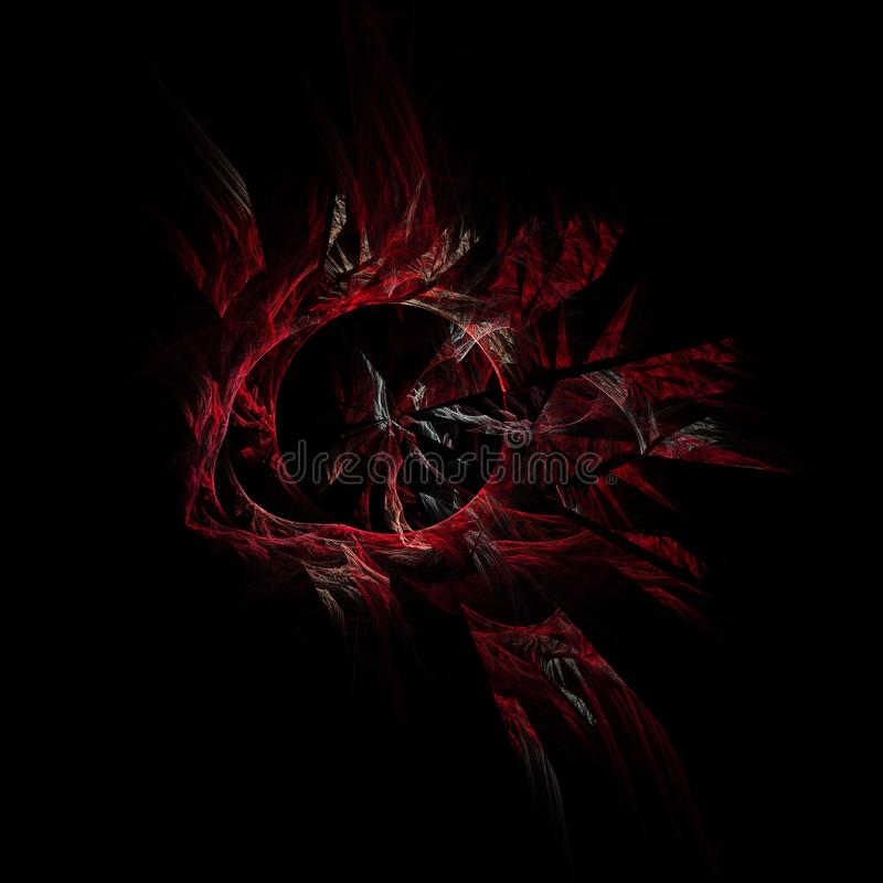 Evil red fractal. Red broken awesome looking fractal that gives of a really evil vibe vector illustration