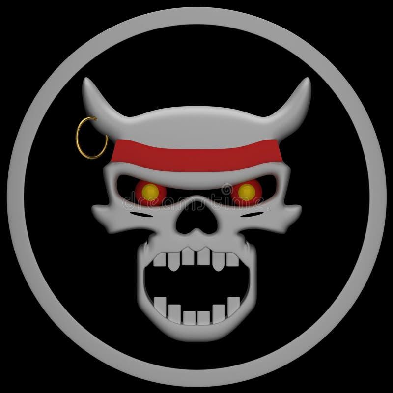Download Evil Skull stock illustration. Image of gothic, face - 21412190