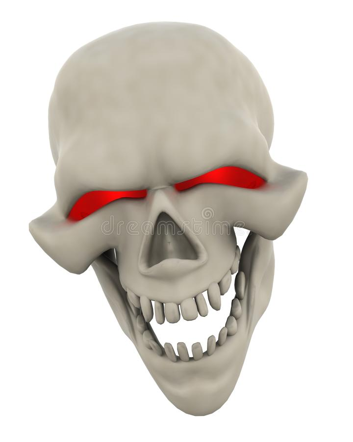 Download Evil Skull Face stock illustration. Image of death, scary - 15381040