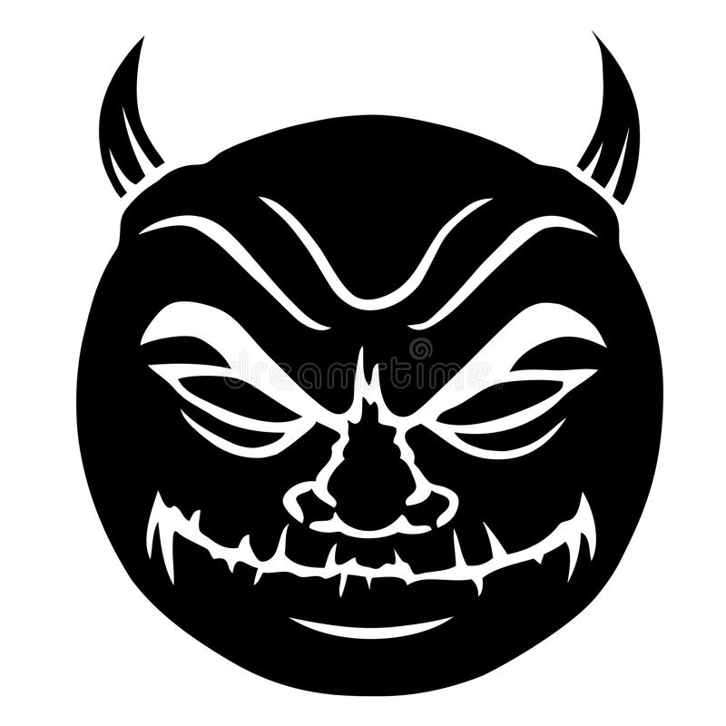 Download Evil smiley in black stock vector. Illustration of mischief - 22780267