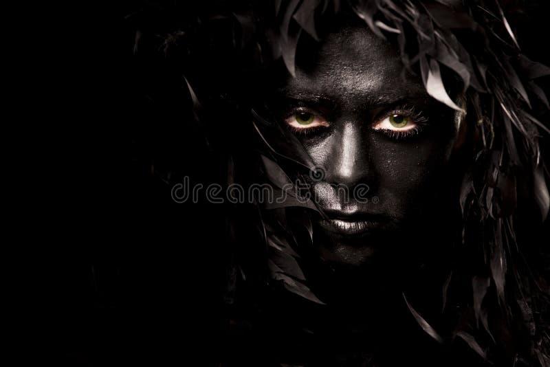 Download Evil spirit stock image. Image of eyes, green, close - 22305199