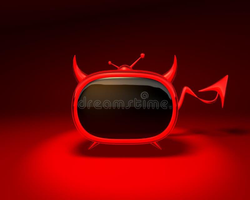 Evil tv vector illustration