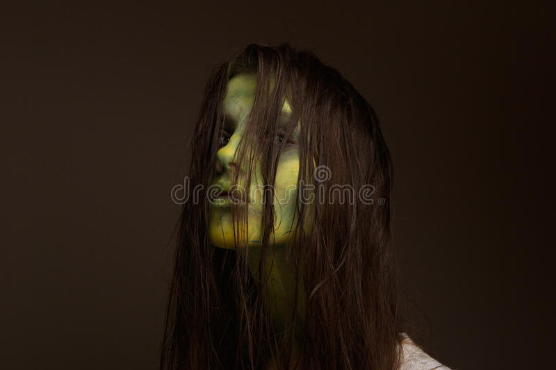 Evil zombie girl royalty free stock photo