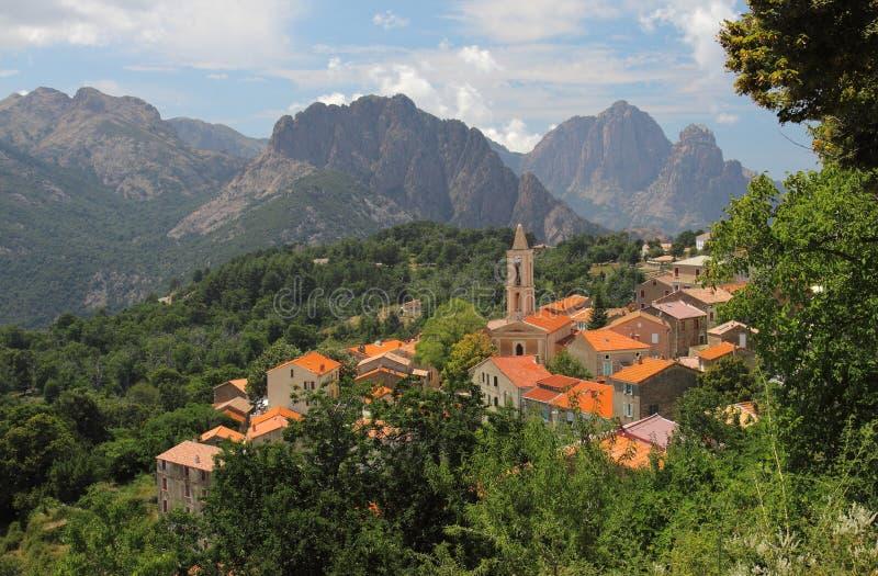 Evisa, Corse, France photographie stock libre de droits