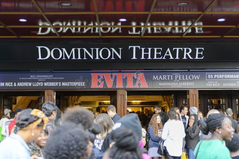 Evita at the Dominion Theatre fotografía de archivo