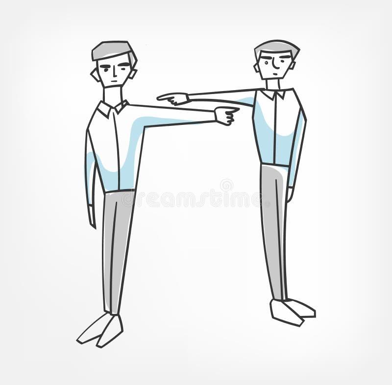 Evite el cambio de la irresponsabilidad de la responsabilidad el clip art de la culpa stock de ilustración