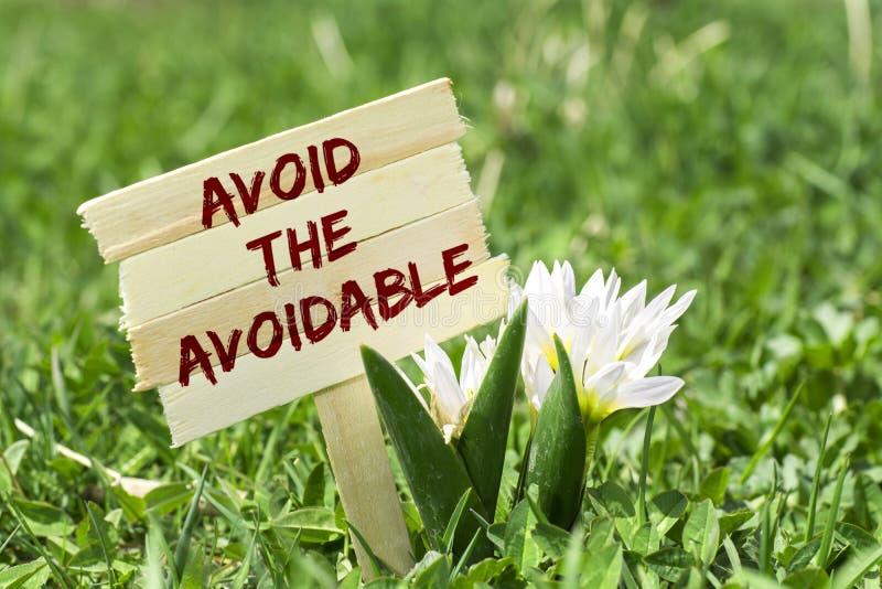 Evite el evitable imágenes de archivo libres de regalías