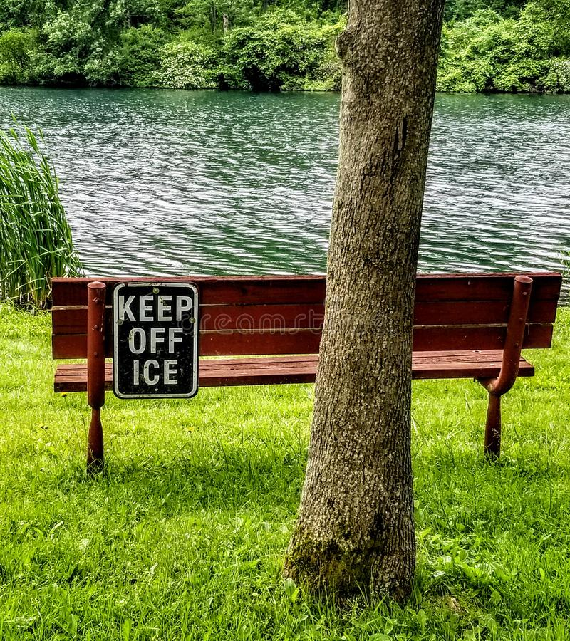 Evite el hielo fotografía de archivo
