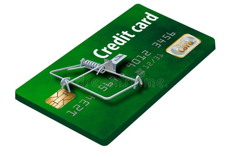 Evite las trampas de la tarjeta de crédito, como ésta que parece una tarjeta de crédito dada vuelta en una ratonera imagen de archivo libre de regalías