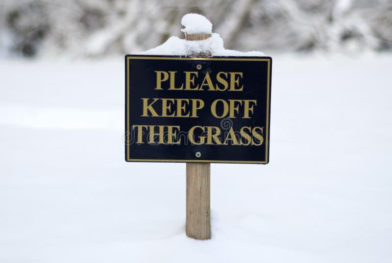 Evite por favor la muestra de la hierba fotos de archivo