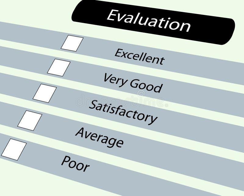 Evluation Fragebogen vektor abbildung