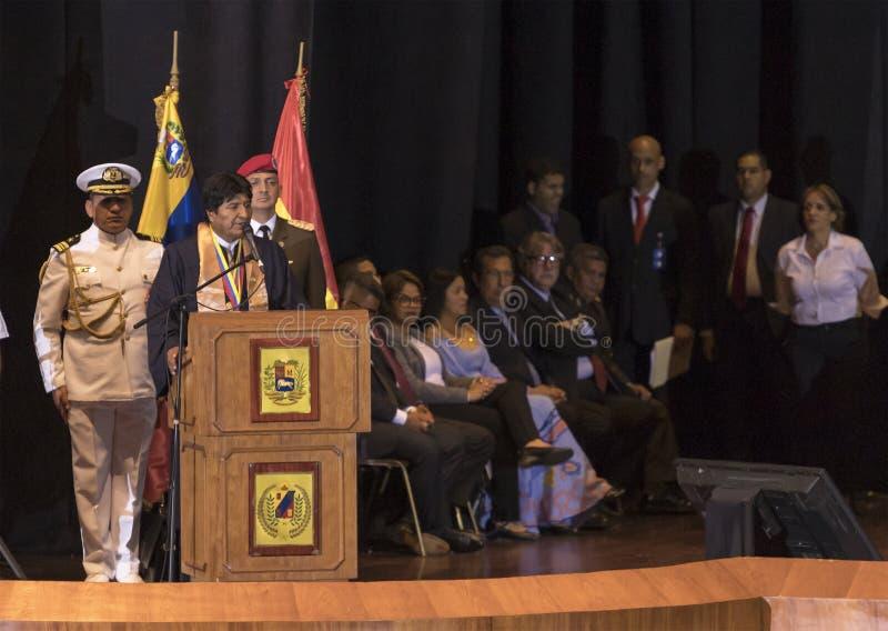 Evo Morales Ayma, presidente del estado plurinacional de Bolivia, entrega un discurso imágenes de archivo libres de regalías