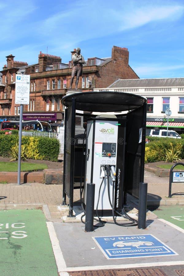 Evolt elektrisch auto snel het laden punt Ayr royalty-vrije stock afbeelding