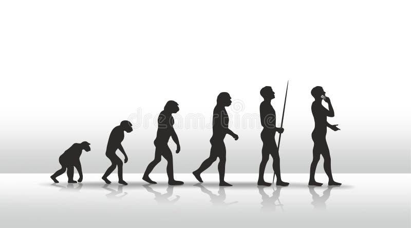 Evolução ilustração stock