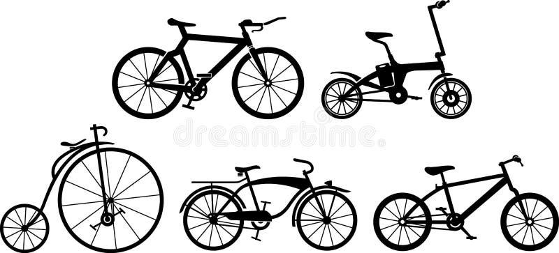 Evolução da bicicleta ilustração do vetor