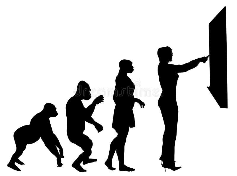 Evolução da instrução ilustração stock