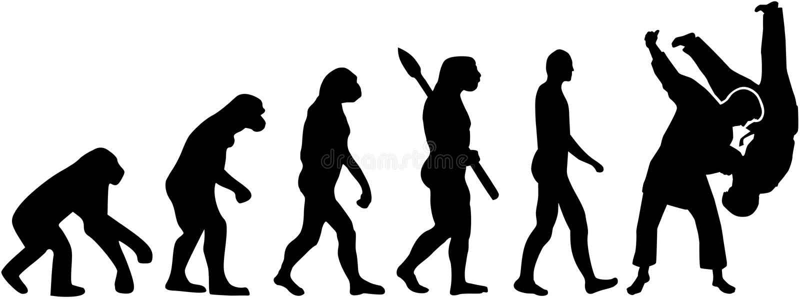 Evolução da luta do judô ilustração do vetor