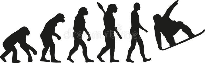 Evolução da snowboarding ilustração stock