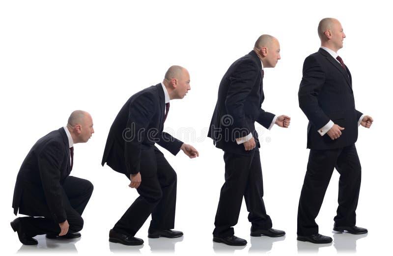 Evolução de Buisnessman imagens de stock royalty free