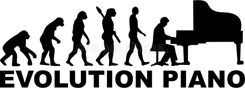 Evolução de um jogador de piano de cauda ilustração royalty free