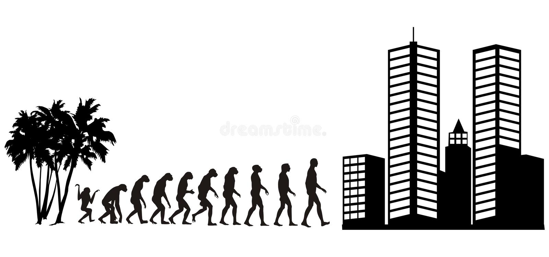 Evolução humana 2 ilustração stock