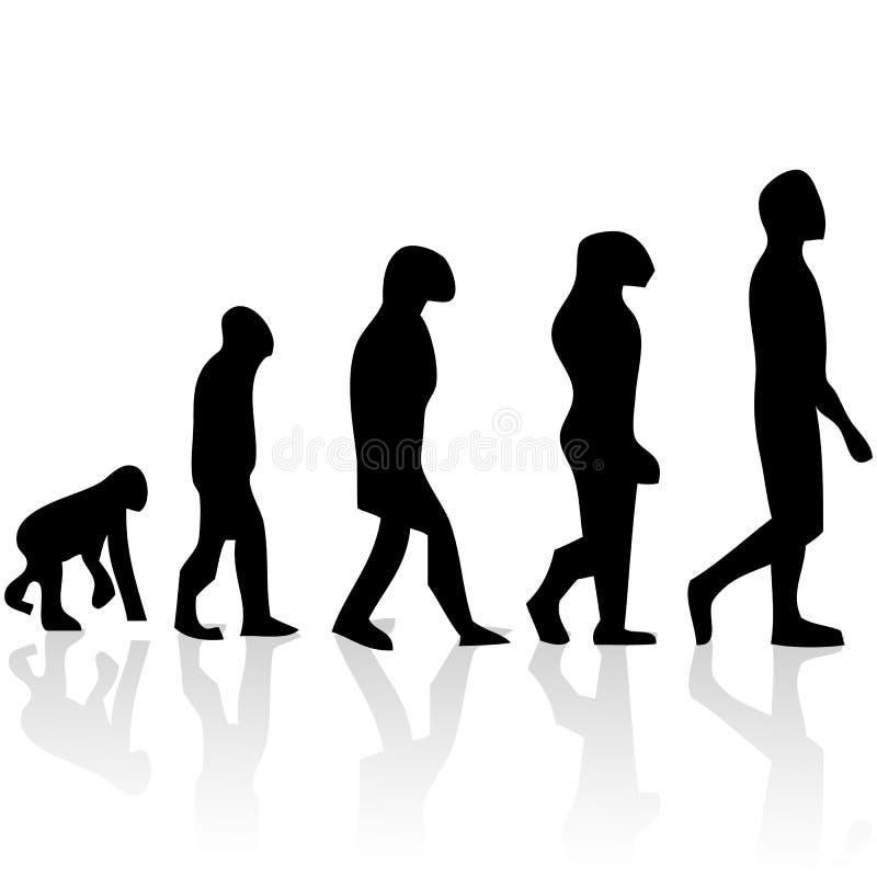 EVOLUÇÃO HUMANA ilustração do vetor