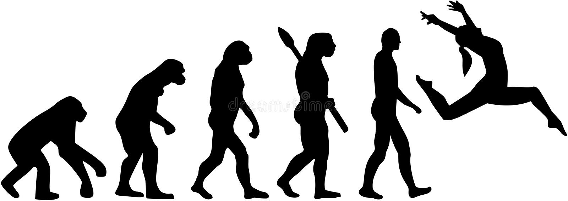 Evolución de la danza del jazz ilustración del vector