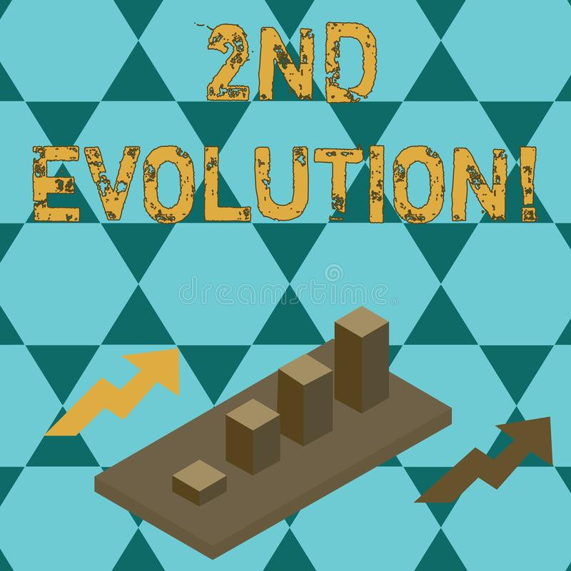 Evolución de la demostración de la muestra del texto 2da Cambio conceptual de la foto en las características hereditarias de las  ilustración del vector