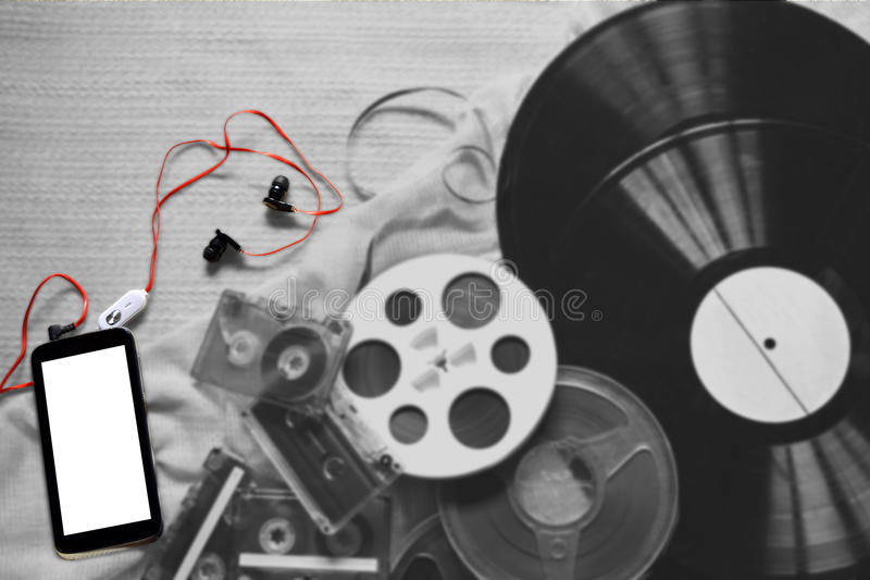 Evolución de la grabación foto de archivo