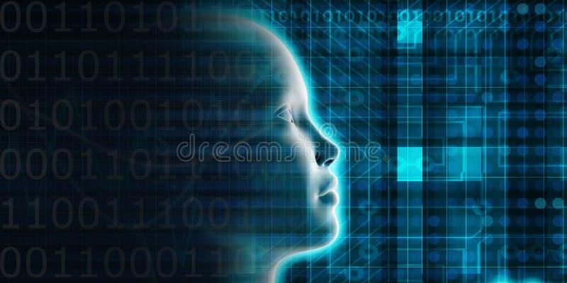 Evolución de la inteligencia artificial stock de ilustración