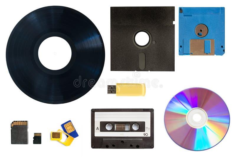 Evolución de los datos de la tecnología y del almacenamiento de los medios fotografía de archivo libre de regalías