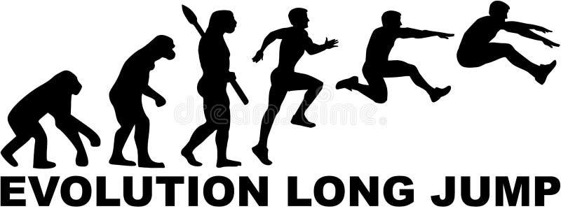 Evolución del salto de longitud stock de ilustración