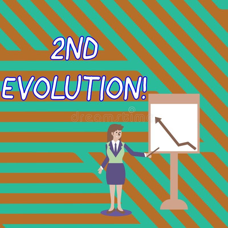 Evolución del texto de la escritura de la palabra 2da Concepto del negocio para el cambio en las características hereditarias de  ilustración del vector