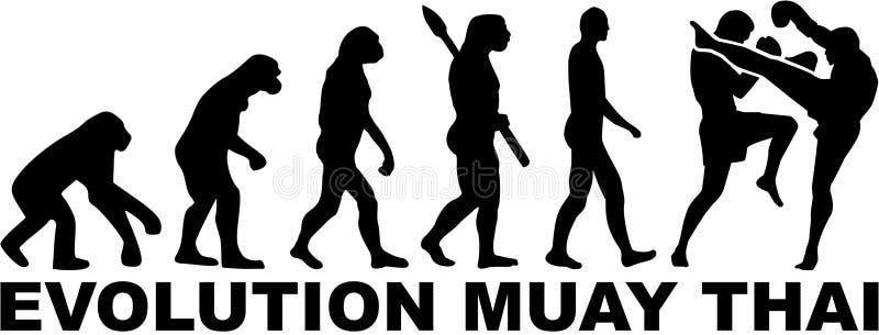 Evolución tailandesa de Muay ilustración del vector