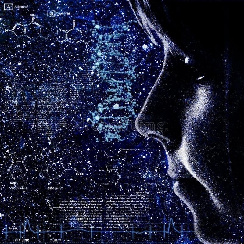 Evolutie. Abstracte wetenschap backrounds stock afbeelding
