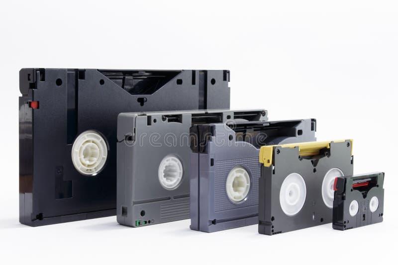 Evolutie van beroeps videobanden stock afbeeldingen