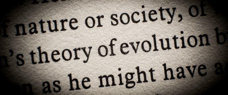 Evolutietheorie royalty-vrije stock fotografie