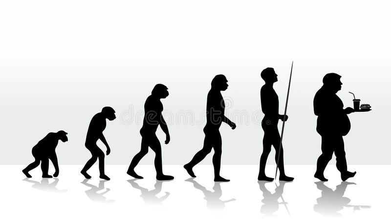 Evolution  royaltyfri illustrationer