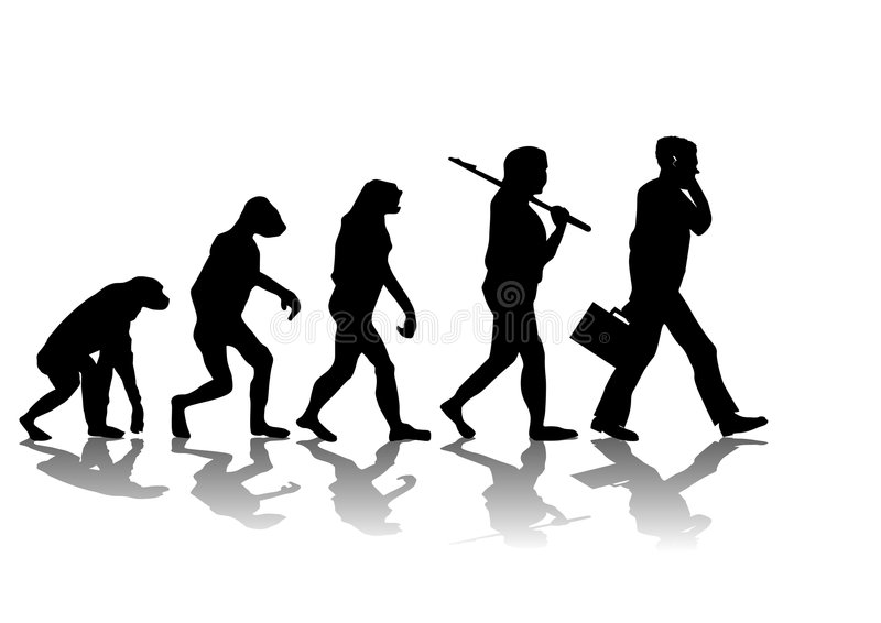 evolution stock illustrationer