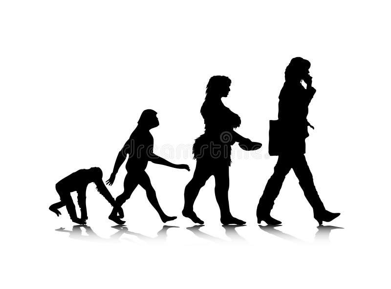 Evolution_7 humain illustration de vecteur