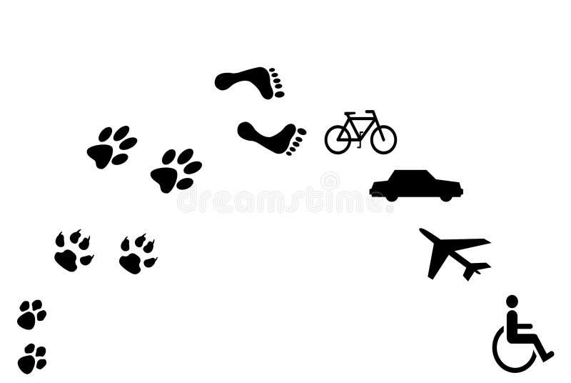 evolution vektor illustrationer