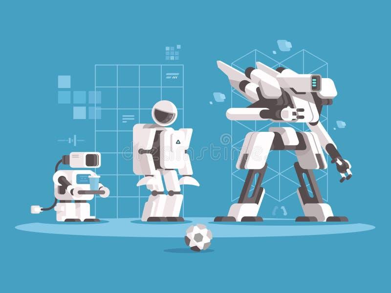 Evolution av robotteknik vektor illustrationer