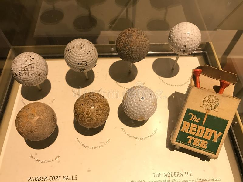 The Evolution of the Golf Ball royalty free stock photos