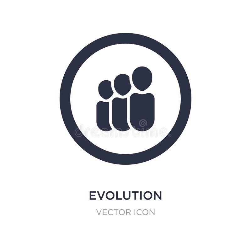 evolution icon on white background. Simple element illustration from UI concept vector illustration