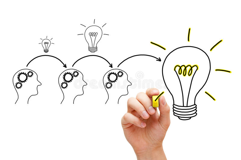 Evolution of an Idea stock image