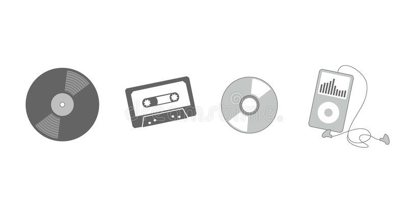 Evolution Of Listening To Music Stock Photography