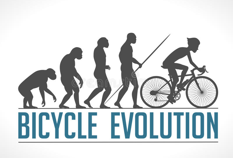 Download Evolution Of Man Stock Vector. Illustration Of Feet, Bike    46728485